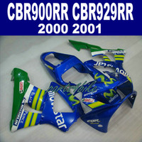 Nieuw! Fit voor Honda CBR900RR Fairing Kit CBR929 2000 2001 Bodykits CBR 900 RR 00 01 GROENE BLAUW MOVISTAR FACKINGS HB78