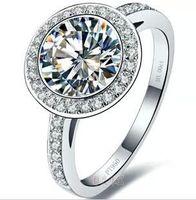 Frete Grátis Novo Atacado - EUA sona anel de diamante 3 kt banhado a ouro prata esterlina T modelos PT950 marca de platina Moissanite
