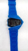 Wholesale 350pcs/lot Mix 6Colors Fighter watches B-2 stealth bomber shape Fighter watches sports LED Aircraft Silicone watch LW009
