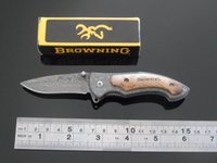 Free shipping. hot wholesale! brown337 damascus Pocket knive...