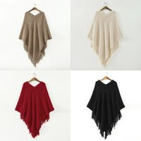 2014 New Fashion Ladies Women Batwing Poncho Cape Pullover O...