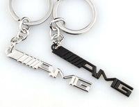 10pcs / серия ключа автомобиля кольцо брелок AMG знак автомобиля Эмблемы для Mercedes Benz A45 AMG SLS E63 Key Holder Авто Автоаксессуары Styling