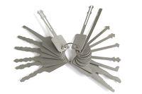 16 قطعة / الوحدة jiggler مفاتيح قفل التقاط أدوات قفل اختيار مجموعة لأدوات قفل مزدوجة من جانب لفاحة قفل السيارة