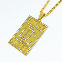 2019 New Men Bling Bling Full Rhinestone Dream Chaser Pendan...