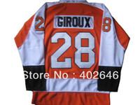 2016 2013 NOVO! atacado panfletos de hóquei no gelo # 28 Claude Giroux jerseys laranja, com remendo C