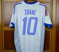 5dce53a27 Retro jerseys 2002 World cup France Home Away Blue White Zid.