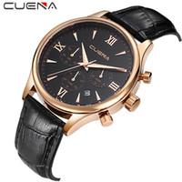 CURREN 남성의 배 시계의 6 핀 멀티 스포츠 시계 쿼츠 시계 가죽 스트랩 방수 Relojes 시계 패션 최고 럭셔리 비즈니스 시계