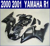 Personnalisez l'ensemble de carénage de moto pour YAMAHA 2000 2001 YZF R1 kit de carénage tout noir mat YZF1000 00 01 RQ11 + 7 cadeaux