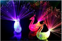 2017 новый стиль 3 col LED мигающий Павлин волоконно-оптический палец огни кольца для рейвов или партии пользу
