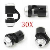 30X Magnificação Celular Mini Microscópio Ciência Investigar Universal Para Iphone Samsung Lente Da Câmera Do Telefone Móvel na caixa de varejo