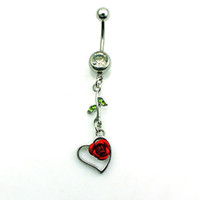 Newly Fashion Belly Button Rings Stainless Steel Dangle Gree...