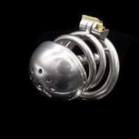 Доктор Мона Лиза - средний размер металла целомудрие клетка устройство интегрированный замок из нержавеющей стали комплект с фиксированной уретры катетер бондаж SM игрушка