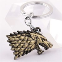 Game of Thrones Wolf Llavero Housek of Winterfell Badge Keychain Aleación llaveros para regalo