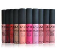 2017 Hot NYX Soft Matte Lip Rouge crème Maquillage charme longue durée Party quotidien Marque Maquillage Lip Gloss Brillant Rouge à lèvres