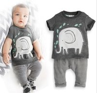 2016 New style summer baby boy clothes t- shirt+ pants cotton ...