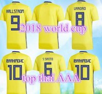 Top Thai quality SWEDEN 2018 HOME shirt IBRAHIMOVIC KALLSTRO...