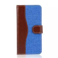 Cubierta azul del defensor de la bolsa del tirón de la caja de cuero de la PU con la ranura para tarjeta para el borde S8 S7 más
