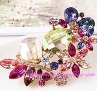 больше цвета кристалл шт цветок женщины; брошь с (7 * 4.8 см ((myyhmz)