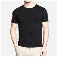 Pequeño gran caballo de cocodrilo Hombres camiseta de cuello redondo camiseta de manga corta de color sólido más el tamaño camisetas al por menor camisetas polos camisetas envío gratis
