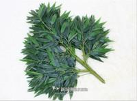 النباتات أوراق مصطنعة الحرير الاصطناعي الخيزران فروع شجرة اصطناعية الأخضر فروع نبات البامبو ديكور المنزل الشحن مجانا