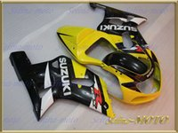 New yellow glossy black full fairing for SUZUKI GSXR 600 750...