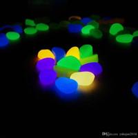 Yenilik Güneş Enerjisi Glow Çakıl Taş Karanlıkta Glow DIY Dekoratif Çakıl Taşları Balık Tankı, Aydınlık Taş 10-Color