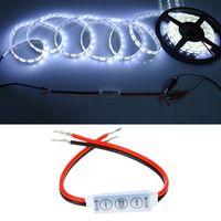 送料無料ミニコントローラーディメーター用5050 3528 RGB LEDストリップストリング弦の弦の光12V 6A 3キー