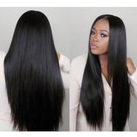 250٪ الكثافة الدانتيل الجبهة الشعر البشري 360 الدانتيل أمامي الباروكة 8A حريري مستقيم كامل شعر الإنسان الباروكات للنساء السود