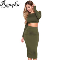 Frauen herbst winter sexy club dress 2016 langarm 2 stück baumwolle verband bodycon dress vestido cocktail elegante party kleider q1113