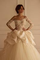Frühling 2021 Neue Brautkleider durchschauen SpitzeAppliques Brautkleider Transparenter Tüll Vestidos De Novia afrikanischen Kleid-Brautkleider