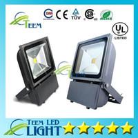 야외 LED 홍수 빛 100W 방수 IP65 LED 투광 조명 슈퍼 밝은 9000 루멘 조명 LED 가든 램프 85-265V + CE ROHS UL 2PCS