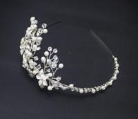 Frontlet Morbido colorato brillante cristallo strass catena coreana da sposa copricapo testa fiore accessori per capelli per le nozze