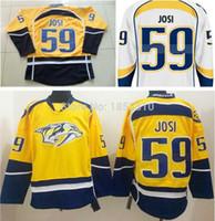 2016 neue, Großhandelspreis Roman Josi Jersey # 59 Nashville Predators Günstige Herren Hockey Trikots Gute Qualität Genähte Logos Mix Oder