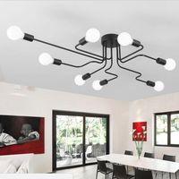 Винтажный потолочный светлый железо множественный стержень творческий ретро личность Luminaria промышленные светодиодные подвесные лампы домашнее освещение светильника потолочная лампа