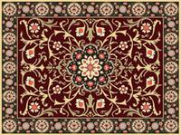 Papel pintado 3d para el baño del piso Papel pintado de la alfombra europea del techo de estilo ultraalto europeo