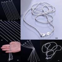 50 teile / los Solide 925 Silber Überzogene Schmuck Halskette Link Balls Kette Mit Karabinerverschluss Fit Charme Anhänger SH6
