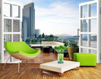 Individuelle Fototapeten Große 3D Sofa TV Hintergrundbild Wandbild Wand Urban Balcony 3d Wandbild Tapete 20155644