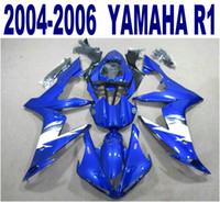 Nuova carenatura per stampaggio a iniezione per YAMAHA YZF-R1 04-06 carenature carrozzeria nero bianco blu yzf r1 2004 2005 2006 YQ11 +7 regali