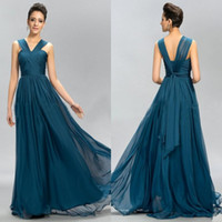 2016 New Evening Dresses Halter Pleats A Line Chiffon Sweep Train Party Prom Dress Custom Made Sleeveless Ruched Special Wedding Guest