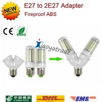E27 zu Dual Doppel 2 X E27 Sockel Basis Verlängern Splitter Stecker Halogenlicht Lampe Lampenfassung Kupferkontakt Adapter Konverter