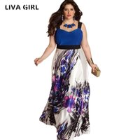 Wholesale- Large Size 6XL Summer Dress 2017 Plus Size Midi D...