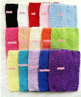 15 шт. 20см х 23 см (8-9 дюймов) девочка-девочка вязание крючком TUTU TUT TOPS TOPS CUST WRAP ELASTY OUBLED Headwear, для Petti Top / Halter Top