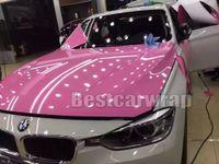 Gloss Rose Vinyle wrap brillant pour la voiture du film Wrap avec une feuille couvrant une pellicule de véhicule d'air libre Bubble comme 3m 1080 Taille: 1.52 * 20M / rouleau