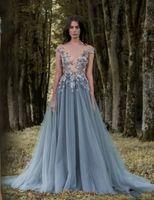 깎아 지른듯한 넥타이 넥 라인 파티 가운 저렴한 스윕 연철 구슬 저녁 착용 여성용 Paolo Sebastian Lace Prom Dress New AW447