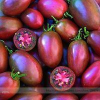 Semi di pomodoro viola ucraino, confezione professionale, 100 semi / confezione, grande dolce prugna carnosa a forma di 3-4 '' lunga # TS025