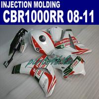 Литье под давлением новый послепродажный набор для HONDA обтекатели CBR1000RR 2008-2011 CBR1000 RR белый красный Castrol обтекатель комплект 08 09 10 11 ZC15