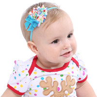 3 Colors Baby Headbands Christmas Sequin Bow Shabby Chic Flo...