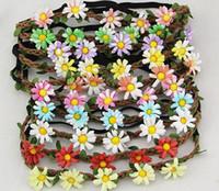 Mulheres Verão Praia Boêmio Flor Headband Festival de Casamento Noiva Floral Garland Faixa de Cabelo Headwear Acessórios Para o Cabelo