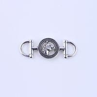 2015 Ny mode silver charms retro häst huvud hängsmycken tillverkning diy smycken passform halsband eller armband 50st / parti 5193x