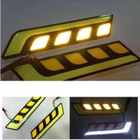 한 차에 빛을 모두 켜 DRL 주도 2PC 자동차 속 조명을 실행하는 바 일광 LED 자동차 방수 12V 보편적 주간을 주도 스타일링